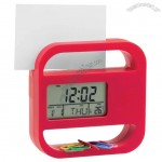 Digital Table Clock with Paper Clip