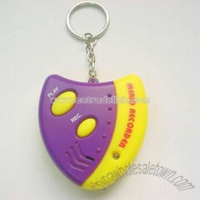 Digital Voice Recording Keychain