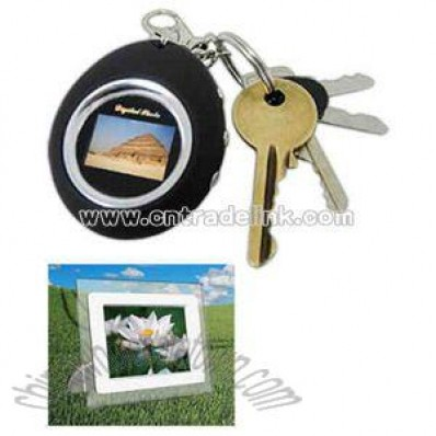 Digital photo frame with keychain