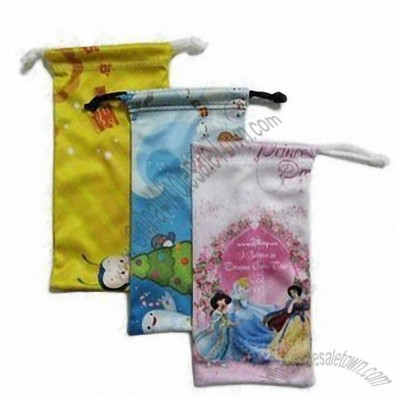 Digital printing microfiber glasses bags
