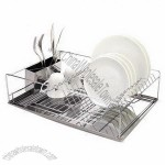 Dish Holder with SS Utensil and SS Tray 470 x 320 x 125mm