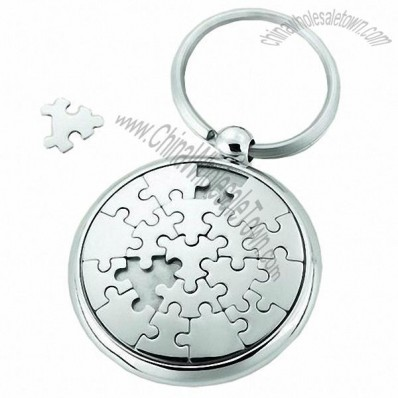 Disk Jigsaw Puzzle Keychains