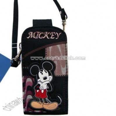 Disney Mickey Cell Phone Pouch with carrying strap