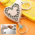 Disney Mickey Mouse Leel Heart Key Ring (Clear Blue)
