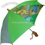 Disney's Winnie the Pooh and Eyore Green Umbrella