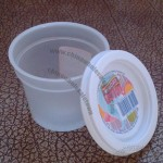 Disposable 4 Oz Ice Cream Plastic Container, Sauce Cup with Lid