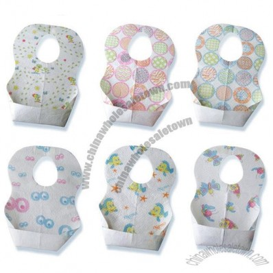 Disposable Baby Bib with Velcro