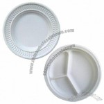 Disposable Dinnerware, Made of 100% Biodegradable/Compostable Tray, Plant Starch and GMO-free