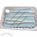 Disposable Oral Cavity Care Kit With Dental Mirror, Tweezers And Probe
