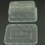 Disposable Rectangular Food Container with Lid and 1,000mL Capacity