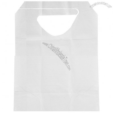 Disposable Slip-On Adult Bibs,White, Ties