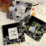 Distinctive Floral Design Photo Coaster Favors