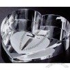 Distinctive Gift Gallery Crystal Slant Heart Paperweight (2 3/4