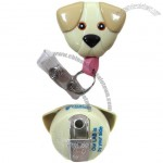 Dog Design Retractable Badge Holder