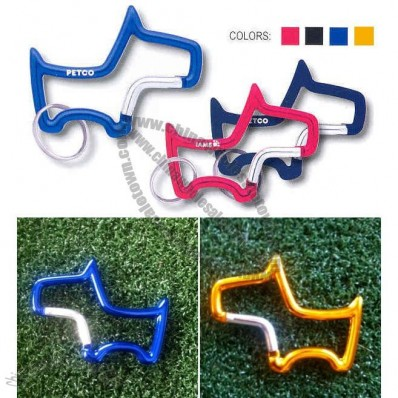 Dog Shape Carabiner Key Holder