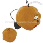 Dog ball stress reliever yo-yo with elastic cord