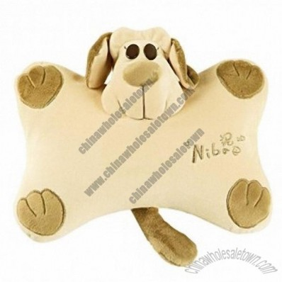 Doggie Style Car Neck Brace Pillow Travel Pillow Khaki