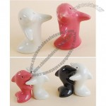 Dolphin Hug Ceramic Salt and Pepper Shakers