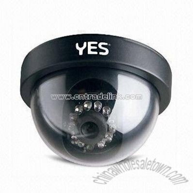 Dome Camera with 15m IR Distance and 520TVL Horizontal Resolution