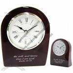 Dome Wood Desk Clock