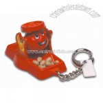 Don't Spill the Beans Game Keychain & Keyring
