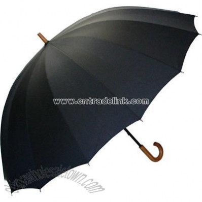 Doorman's Black Umbrella