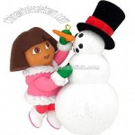 Dora With Snowman Ornament