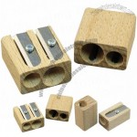 Double Cavity Wooden Sharpener