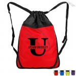 Double Compartment Drawstring Sports Backpack