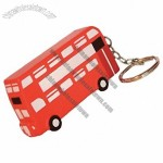 Double Decker Bus Stress Ball Toy Keyring