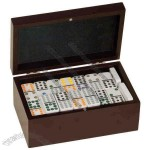 Double Domino Rosewood Boxed Gift Set