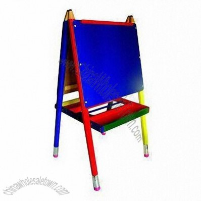 Double Face Children Easel with 2 Trays for Brushes, Chalks, Paints