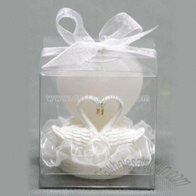 Double Gooses with Heart Wedding Series Candles