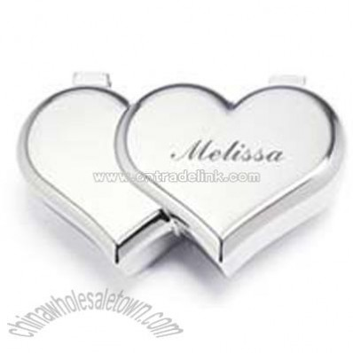 Double Heart Jewelry Box