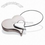 Double Heart Metal Keychain