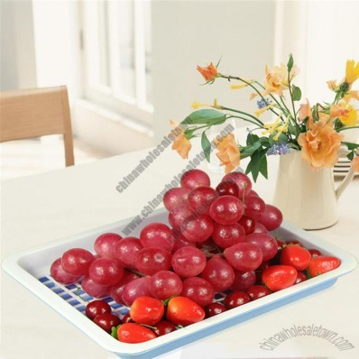 Double Layer Plastic Fruit Tray