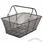 Double OR Single Handle Hand Held Retail Shopping Baskets