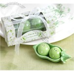 Double Peas in a Pod Salt and Pepper Shaker Favors