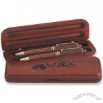 Double Rosewood Hinged Pen Box