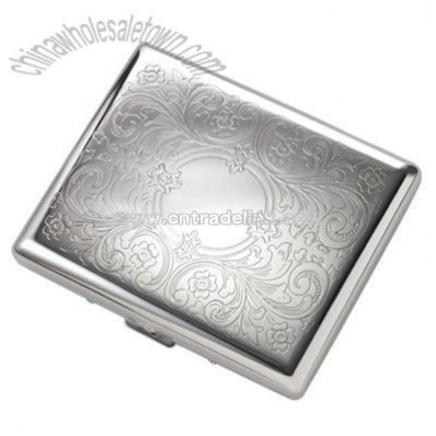 Double-Sided Silver Cigarette Case