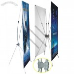 Double Sides Adjustable X Banner Stand