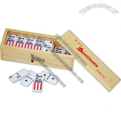 Double Sized Professional Dominoes In Wooden Case