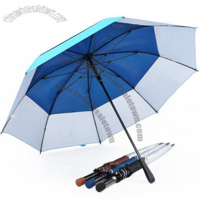 Double Tiered. Auto Open, UV Coated, Windproof Golf Umbrella