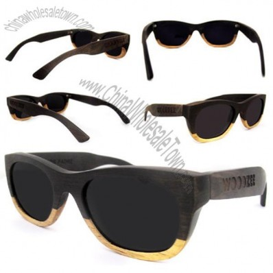 Double Tone Wooden Sunglasses