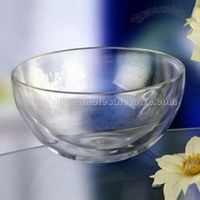 Double Wall Glass Bowl