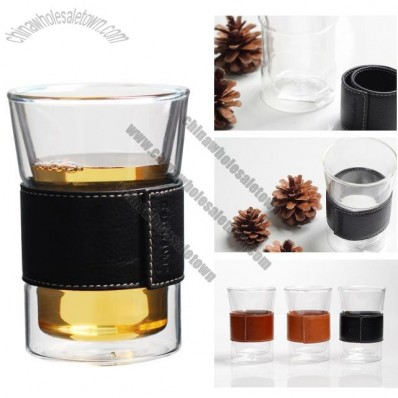 Double Wall Glass with Rubber Holder
