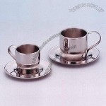 Double-Wall Stainless Steel Coffee Cup Set