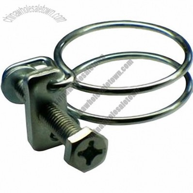 Double Wire Hose Clamp, Carbon Steel