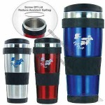 Double walled stainless steel 16 oz. mug