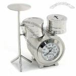 Drum Set Desk Clock